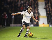 Fulham attacker Alex Kacaniklic (Kacaniklic) dribbling during the Sky Bet Championship match between Fulham and Ipswich Town at Craven Cottage, London, England on 15 December 2015. Photo by Matthew Redman.