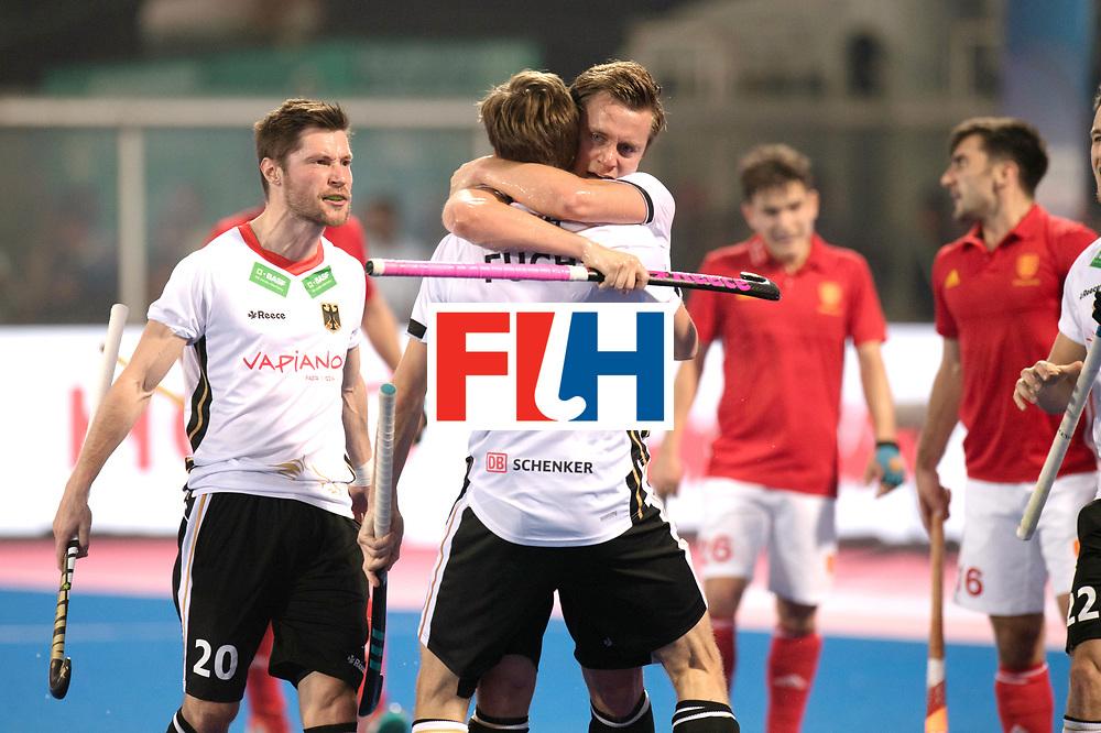 Odisha Men's Hockey World League Final Bhubaneswar 2017<br /> Match id:01<br /> Germany v England<br /> Foto: assist Florian Fuchs, Mats Grambusch scores 1-0<br /> WORLDSPORTPICS COPYRIGHT FRANK UIJLENBROEK