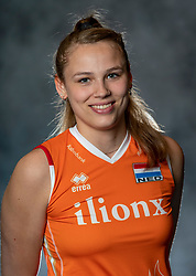 14-05-2019 NED: Photoshoot national volleyball team Women, Arnhem<br /> Sarah van Aalen of Netherlands