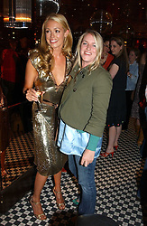 Left to right, CAT DEELEY and MISS LAURA PARKER BOWLES daughter of HRH the Duchess of Cornwall at a party to promote the Kiss It Better campaign for the Great Ormond Street Hospital in association with Stila and Space.NK held at Frankie's, Yeoman's Row, London on 31st May 2005.<br />