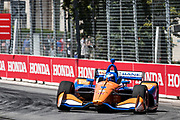 Scott Dixon from New Zealand,  Chip Ganassi Racing, Honda, action, track, piste,  INDY car race, TORONTO race in the  Streets of Toronto - Ontario, Canada,   Fee liable image, Copyright © ATP Marcel LANGER