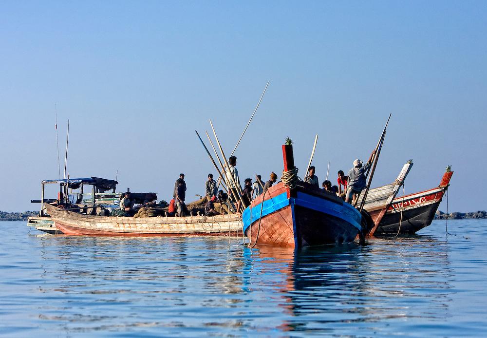 Ngapali fishing, Myanmar.