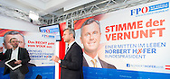 Austrian far right Freedom Party (FPÖ) presidential candidate and front runner Norbert Hofer (r) with Member of Parliament FPOe Herbert Kickl (l) during the party's press conference prior to the second round ballot of the Austrian Presidential Elections (on 22/5/16) in Vienna, Austria.<br /> Picture by EXPA Pictures/Focus Images Ltd 07814482222<br /> 29/04/2016<br /> <br /> ***UK & IRELAND ONLY***<br /> <br /> EXPA-GRU-160429-0128.jpg