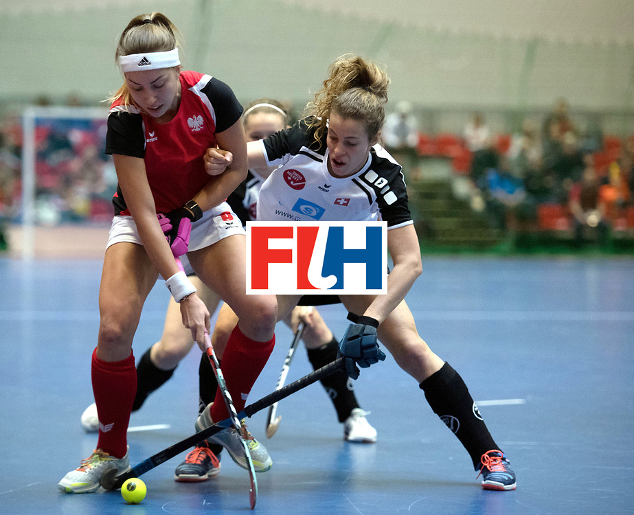 BERLIN - Indoor Hockey World Cup<br /> Switzerland - Poland<br /> foto: WYPIJEWSKA Martyna<br /> WORLDSPORTPICS COPYRIGHT FRANK UIJLENBROEK