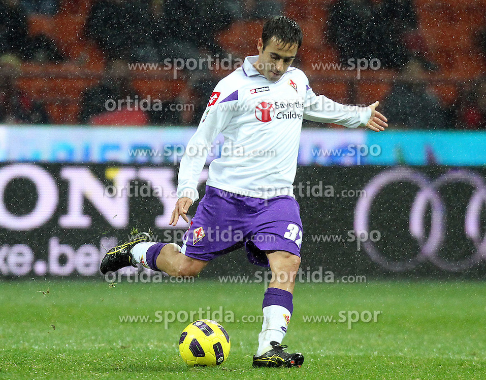 20.11.2010, Giuseppe-Meazza-Stadion, Mailand, ITA, Serie A, AC Milan vs Fiorentina, im Bild Marchionni Marco, EXPA Pictures © 2010, PhotoCredit: EXPA/ InsideFoto/ ALBERTO CAMICI *** ATTENTION *** FOR AUSTRIA AND SLOVENIA USE ONLY!