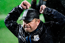 Matjaz Kek, head coach of HNK Rijeka reacts after winning during football match between HNK Rijeka and HNK Hajduk Split in Round #15 of 1st HNL League 2016/17, on November 5, 2016 in Rujevica stadium, Rijeka, Croatia. Photo by Vid Ponikvar / Sportida