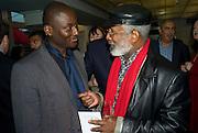 EKO ESHUN; JOHN LYONS, The Hayward Gallery 40th birthday Gala. hayward Gallery. South Bank. 9 July 2008 *** Local Caption *** -DO NOT ARCHIVE-© Copyright Photograph by Dafydd Jones. 248 Clapham Rd. London SW9 0PZ. Tel 0207 820 0771. www.dafjones.com.