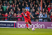 Anthony Straker during the Pre-Season Friendly match between York City and Newcastle United at Bootham Crescent, York, England on 29 July 2015. Photo by Simon Davies.