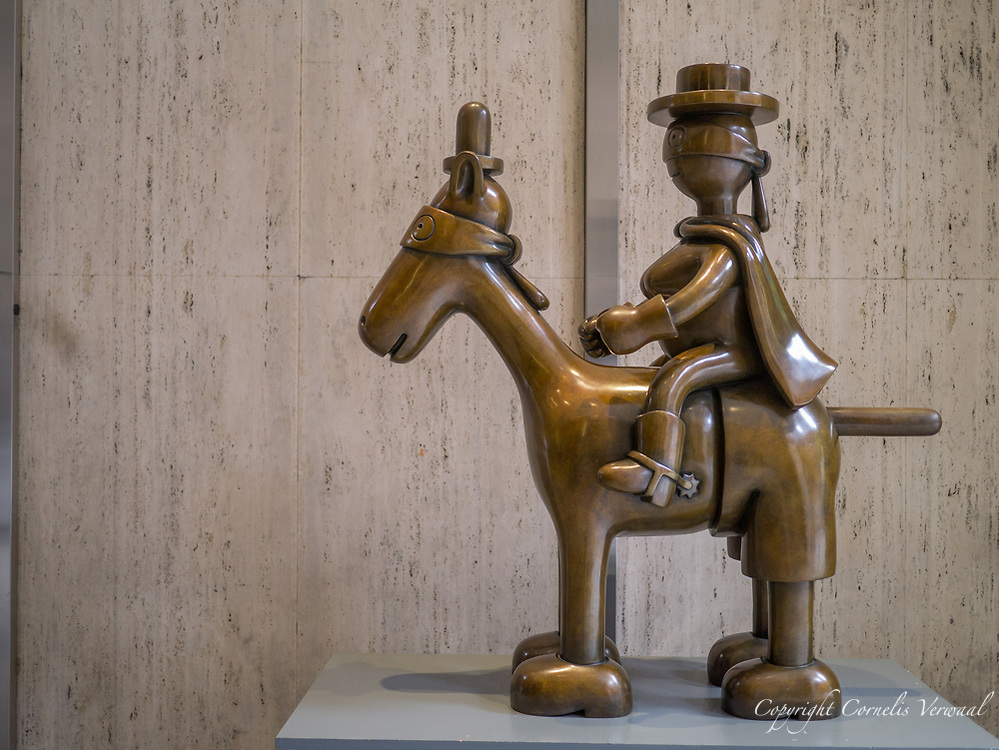 Horse and Rider (2004) by Tom Otterness, in the 57th Street passage, New York City