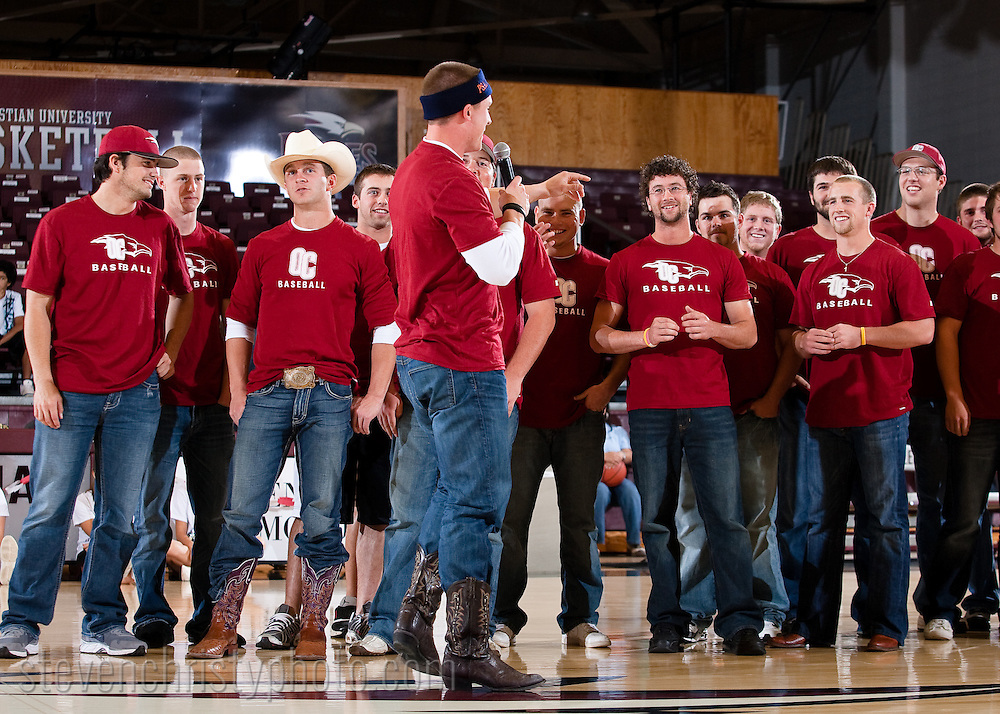 November 6, 2009: The Oklahoma Christian University Eagles host a homecoming pep rally the evening before the first basketball games of the season.