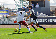 Dundee's Faissal El Bakhtaoui takes on Rangers' Joey Barton - Dundee v Rangers, Ladbrokes Scottish Premiership at Dens Park<br /> <br />  - © David Young - www.davidyoungphoto.co.uk - email: davidyoungphoto@gmail.com