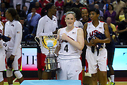 Team USA guard Lindsay Whalen wins the game MVP honors with 21 points during the 2012 USA Women's Basketball Team versus Brazilat Verizon Center in Washington, DC.  July 16, 2012  (Photo by Mark W. Sutton)