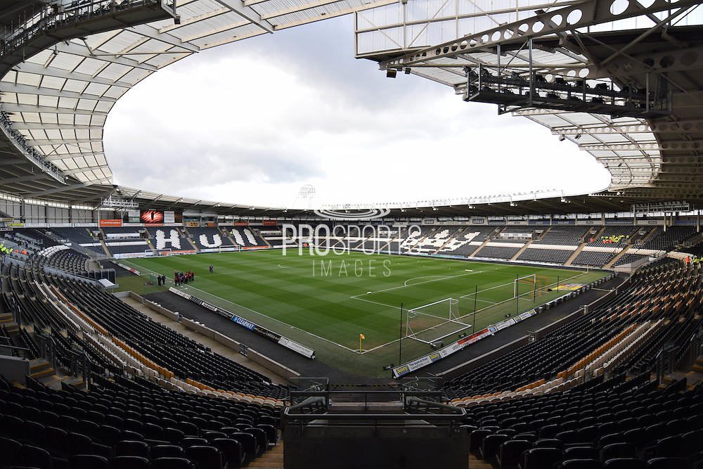 Hull City KC Stadium the Sky Bet Championship match between Hull City and Brentford at the KC Stadium, Kingston upon Hull, England on 26 April 2016. Photo by Ian Lyall.