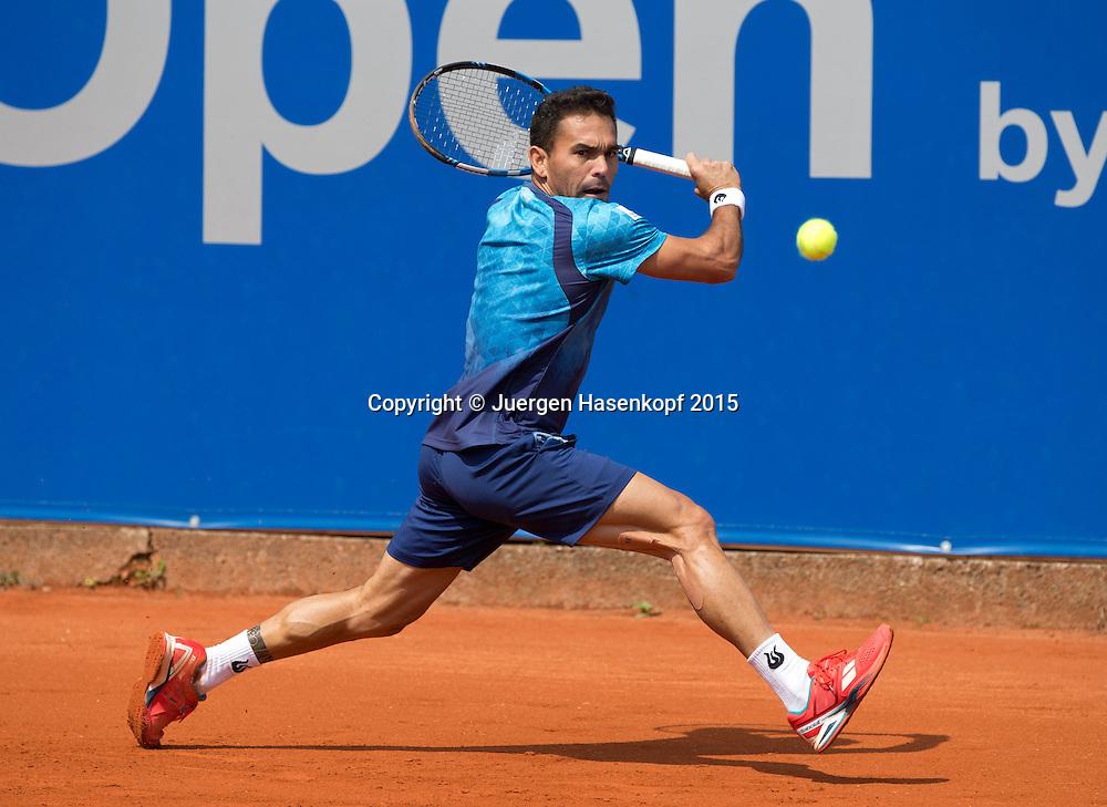 Victor Estrella Burgos (DOM)<br /> <br /> Tennis - BMW Open - ATP -   - Muenchen - Bayern - Germany  - 29 April 2015. <br /> &copy; Juergen Hasenkopf