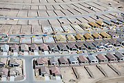 Production housing in pre-planned development on the outskirts of Las Vegas