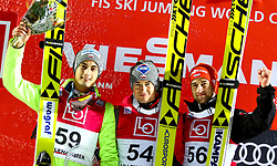 11.12.2016, Lysgards Schanze, Lillehammer, NOR, FIS Weltcup Ski Sprung, Lillehammer, im Bild Maciej Kot (POL, 2. Platz), Sieger Kamil Stoch (POL), Markus Eisenbichler (GER, 3. Platz) // 2nd placed Maciej Kot of Poland, Winner Kamil Stoch of Poland, 3rd placed Markus Eisenbichler of Germany // during Mens Skijumping of FIS Skijumping World Cup at the Lysgards Schanze in Lillehammer, Norway on 2016/12/11. EXPA Pictures © 2016, PhotoCredit: EXPA/ Tadeusz Mieczynski