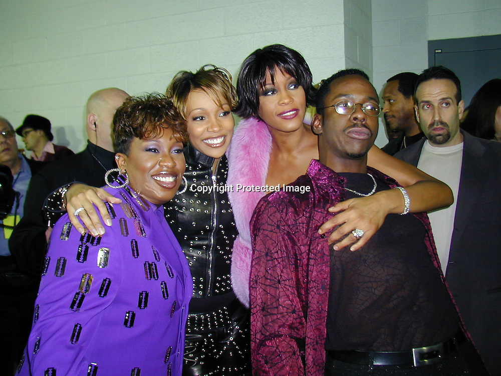 Missy Elliott, Monica, Whitney Houston &amp; Bobby Brown<br /> *****EXCLUSIVE*****<br /> 42nd Annual Grammy Awards Backstage<br /> Staples Center<br /> Los Angeles, CA, USA<br /> Wednesday, February 23, 2000<br /> Photo By Celebrityvibe.com/Photovibe.com