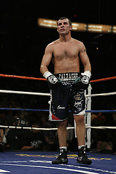 Joe Calzaghe beats Bernard Hopkins by split decision to claim The Ring Light Heavyweight Title. Las Vegas, Nevada, 19th April 2008.