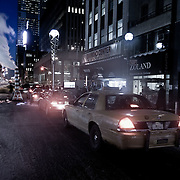 Street of New York by night