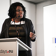 03 June 2015 - Belgium - Brussels - European Development Days - EDD - Migration - Migration and development - Role of diaspora in the development of the country of origin - Binta Sagna , Founder of Agence de Relations Publiques , Presse , Communication and Production TV © European Union