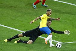 June 27, 2018 - Moscow, Russia - Group E Serbia v Brazil - FIFA World Cup Russia 2018.Vladimir Stojkovic (Serbia) and Neymar (Brazil) at Spartak Stadium in Moscow, Russia on June 27, 2018. (Credit Image: © Matteo Ciambelli/NurPhoto via ZUMA Press)