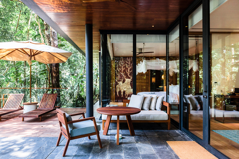 Villa and outdoor lounge