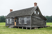 On Ebey's Prairie Trail in Ebey's Landing National Historical Reserve, see the Jacob & Sarah Ebey House, built in 1856. Jacob was the father of Whidbey Island's first permanent Euro-American settler, Isaac Neth Ebey, who arrived in 1850. Start your walking tour from Sunnyside Cemetery Wayside on Cemetery Road to explore Ebey's Prairie Trail (or start from the beach lot at Ebey's Landing State Park), on Whidbey Island, Washington state, USA.