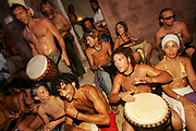 Hippy drummers, Sunset beach party, Benirras Beach, Ibiza, July 2006