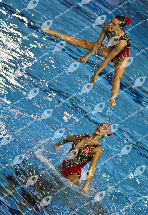 Busto Arsizio (VA) - Italy.CoMeN - Mediterranean Synchronised Swimming cup 2011.The international competition is reserved to athletes 14 years old or younger. 25 nations are taking part to the 2011 edition..Day 03 - Team Final.Bronze Medal.SPAIN (ESP).Photo G.Scala/Deepbluemedia.eu