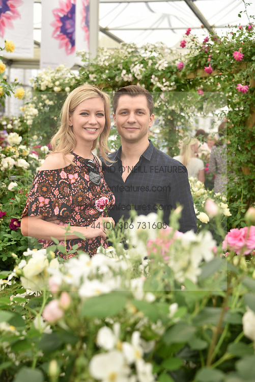 Rachel Riley and Pasha Kovalev at the RHS Chelsea Flower Show Press Day, Royal Hospital Chelsea, London England. 22 May 2017.<br /> Photo by Dominic O'Neill/SilverHub 0203 174 1069 sales@silverhubmedia.com