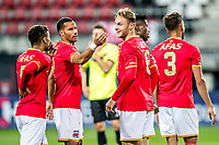ALKMAAR - 12-09-2017, Jong AZ - Telstar, AFAS Stadion, 2-2, Jong AZ speler Ricardo van Rhijn, Jong AZ speler Teun Koopmeiners