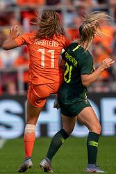 01-06-2019 NED: Netherlands - Australia, Eindhoven<br /> <br /> Friendly match in Philips stadion Eindhoven. Netherlands win 3-0 / Lieke Martens #11 of The Netherlands,Ellie Carpenter #21 of Australia