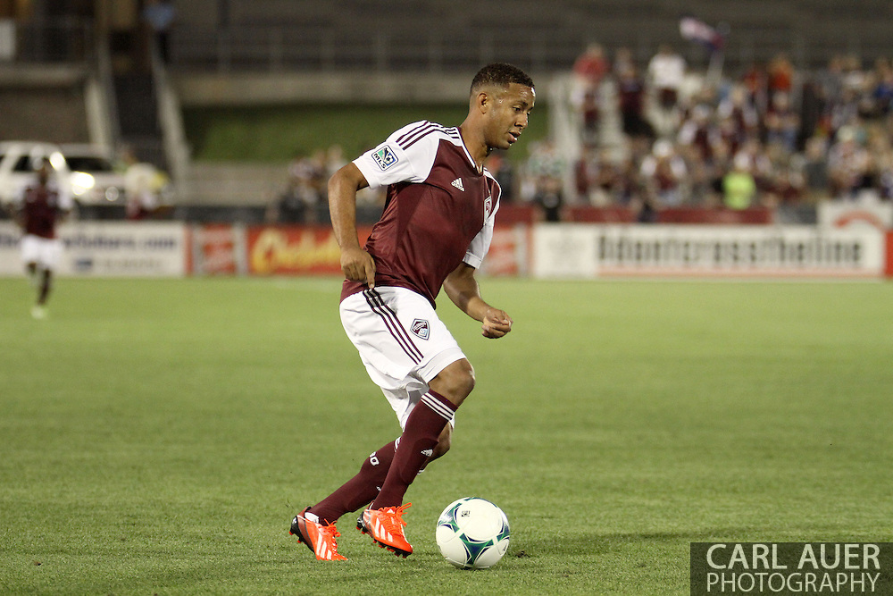 August 17th, 2013 - Colorado Rapids forward Gabriel Torres (30) controls the ball in the second half of action in the Major League Soccer match between the Vancouver Whitecaps FC and the Colorado Rapids at Dick's Sporting Goods Park in Commerce City, CO