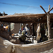 January 21, 2013 - Diabaly, Mali: Local merchants at a stall in Diabaly market, a day after Mali government troops regain control of the city. Diabaly was under islamist militants control since the 14th of January.<br />