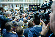 Brussels 19 February 2016<br /> <br /> Meeting of Heads of State or Government of the European Union at the EU headquarters in Brussels to discuss on two main issues : the United Kingdom ' s plans for an (in/out) referendum ( Brexit ) and on the migration and refugee crisis<br /> <br /> Pix Charles Michel<br /> <br /> Credit Melanie Wenger / Isopix