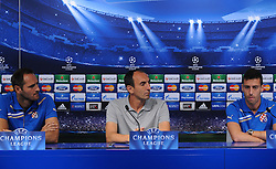 20.08.2013, Zagreb, CRO, UEFA CL Qualifikation, GNK Dinamo vs FK Austria Wien, Pressekonferenz GNK Dinamo, im Bild Josip Simunic, Krunoslav Jurcic, Ivo Pinto // during press conference of GNK Dinamo ahead of the UEFA Champions League Qualification Match between GNK Dinamo vs FK Austria Wien in Zagreb, Croatia on 2013/08/20. EXPA Pictures &copy; 2013, PhotoCredit: EXPA/ Pixsell/ Daniel Kasap<br /> <br /> ***** ATTENTION - for AUT, SLO, SUI, ITA, FRA only *****