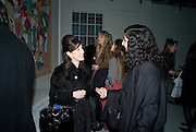 MAUREEN PALEY; KLEO PHILI; , demons, yarns and tales. Tapestries by Contemporary Artists. Exhibition curated by Banners of Persuasion. The Dairy, Wakefield st. WC1. 11 November 2008.  *** Local Caption *** -DO NOT ARCHIVE -Copyright Photograph by Dafydd Jones. 248 Clapham Rd. London SW9 0PZ. Tel 0207 820 0771. www.dafjones.com
