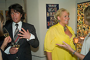 Laurence Llewelyn-Bowen and  Jackie Llewelyn-Bowen, Hello! Magazine 20th Anniversary Exhibition - private view<br />