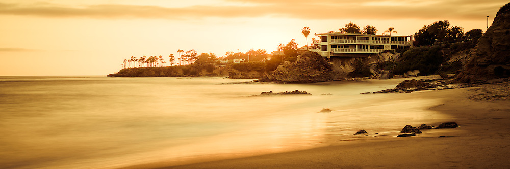 California Laguna Beach Sunset Panorama Photo At Shaws Cove Is A Southern