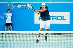 Aljaz Jakob Kaplja (SLO) in action during Day 5 at ATP Challenger Zavarovalnica Sava Slovenia Open 2018, on August 7, 2018 in Sports centre, Portoroz/Portorose, Slovenia. Photo by Vid Ponikvar / Sportida