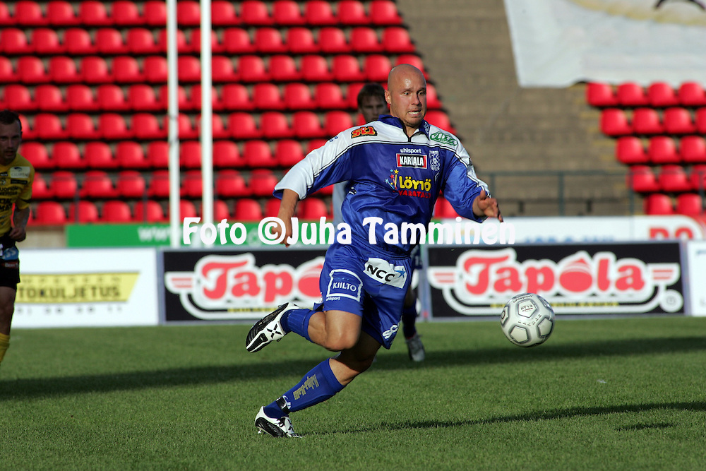 31.07.2005, Ratina, Tampere, Finland..Veikkausliiga 2005 / Finnish League 2005.Tampere United v Kuopion Palloseura.Ville Lehtinen - TamU.©Juha Tamminen.....ARK:k