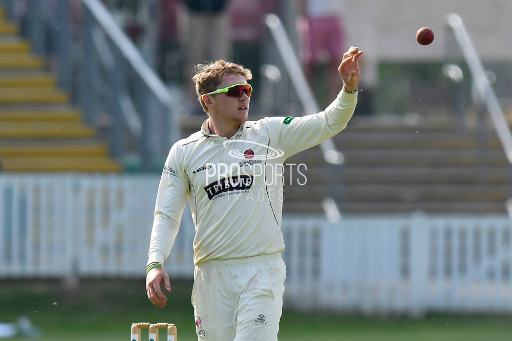 Dom Bess of Somerset during the Specsavers County Champ Div 1 match between Somerset County Cricket Club and Nottinghamshire County Cricket Club at the Cooper Associates County Ground, Taunton, United Kingdom on 10 June 2018. Picture by Graham Hunt.