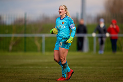LIVERPOOL, ENGLAND - Sunday, February 4, 2018: Watford's goalkeeper Fran Kitching during the Women's FA Cup 4th Round match between Liverpool FC Ladies and Watford FC Ladies at Walton Hall Park. (Pic by David Rawcliffe/Propaganda)