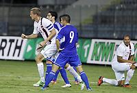 Fotball<br /> VM-kvalifisering<br /> 16.10.2012<br /> Kypros v Norge<br /> Foto: Savvides/Digitalsport<br /> NORWAY ONLY<br /> <br /> Brede Hangeland (5) jubler for utlikning til 1:1
