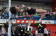 Feb 9, 2019; New York, NY, USA; Vashti Cunningham wins the women's high jump at 6-4 3/4 (1.95m) during the 112th Millrose Games at The Armory.
