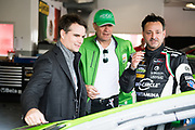 January 24-28, 2018. IMSA Weathertech Series ROLEX Daytona 24. Jeff Gordon tours the GRT Grasser Racing Team garage, Lamborghini Huracan GT3