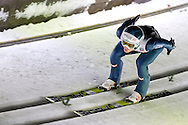 Michael Hayboeck from Austra competes while qualification during FIS World Cup Ski Jumping competition in Zakopane, Poland on January 17, 2014.<br /> <br /> Poland, Zakopane, January 17, 2014.<br /> <br /> Picture also available in RAW (NEF) or TIFF format on special request.<br /> <br /> For editorial use only. Any commercial or promotional use requires permission.<br /> <br /> Mandatory credit:<br /> Photo by © Adam Nurkiewicz / Mediasport