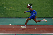 Brittney Reese (USA) Women's Long Jump during the IAAF Diamond League event at the King Baudouin Stadium, Brussels, Belgium on 6 September 2019.