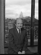 Desmond Barry (TD) Minister for Health at Office.07/09/1983