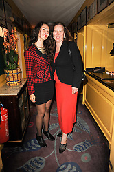 Left to right, VICTORIA DE SILVA and her mother PRINCESS KATARINA OF YUGOSLAVIA at a party to celebrate the publication of Blow by Blow - The Story of Isabella Blow by Detmar Blow and Tom Sykes held at Annabel's, Berkeley Square, London on 21st September 2010.